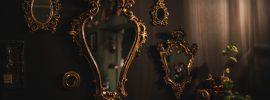 antique mirror decor addition